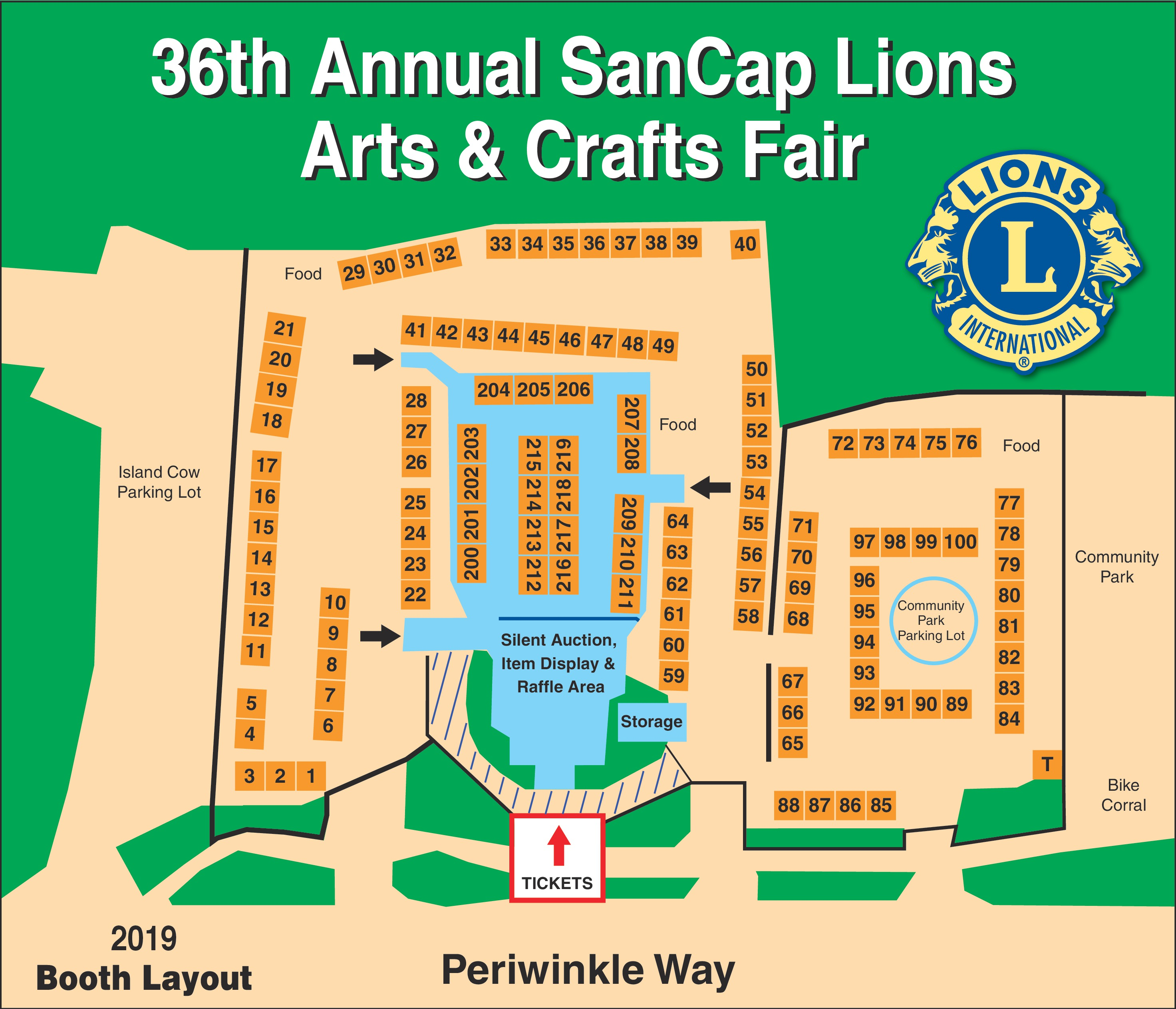 Booth Map – Sanibel Captiva Lions Club Arts & Crafts Fair on south seas island resort map, st. augustine map, union park map, steinhatchee map, east coast of the united states map, wellington map, martinique on the gulf map, bowman's beach map, pratumnak map, villas by the sea map, chokoloskee map, alaqua lakes map, clewiston map, captiva map, fort myers map, florida map, st lucie map, ft. lauderdale map, buckingham map, ponce inlet map,
